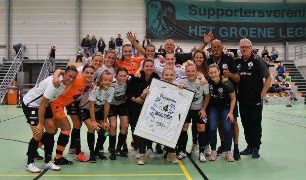 Afscheid van Rianne Mulder, na de 5-1 overwinning op Feyenoord.