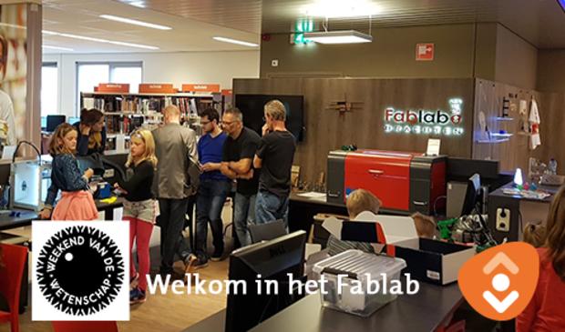 Het FabLab in de bibliotheek van Drachten, onderdeel van Weekend van de Wetenschap.