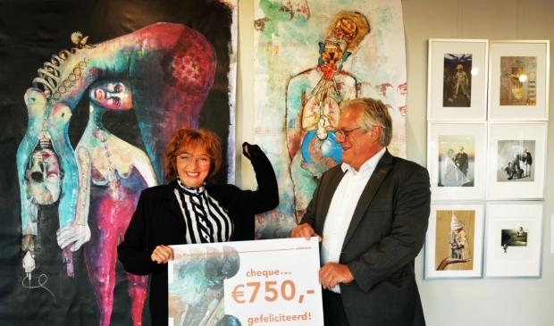 <p>Mirjam Engelberts en wethouder Robin Hartogh Heys van de Lier.</p>
