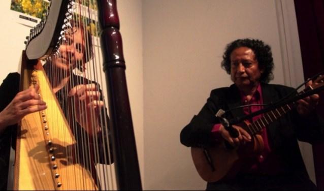 Ineke Herstel (harp) en Jose Luis Fuentes Zarate
