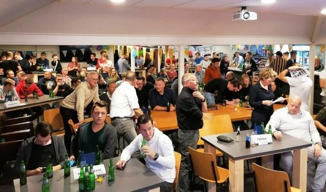 Het was druk in de kantine van Sportclub Brummen