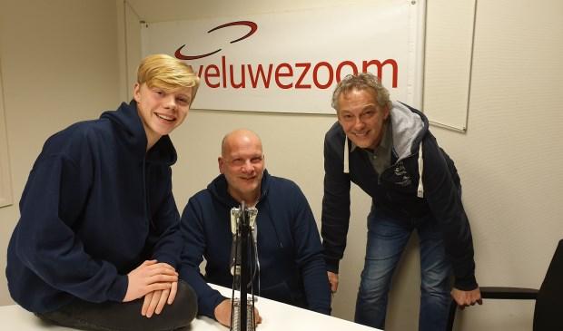 De 3 dj's van RTV Veluwezoom: Thom Peters, zijn vader Harry en Steve van Hooydonk