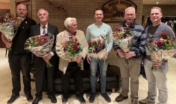 De jubilarissen van S.H.E. Foto: Greta van Beek