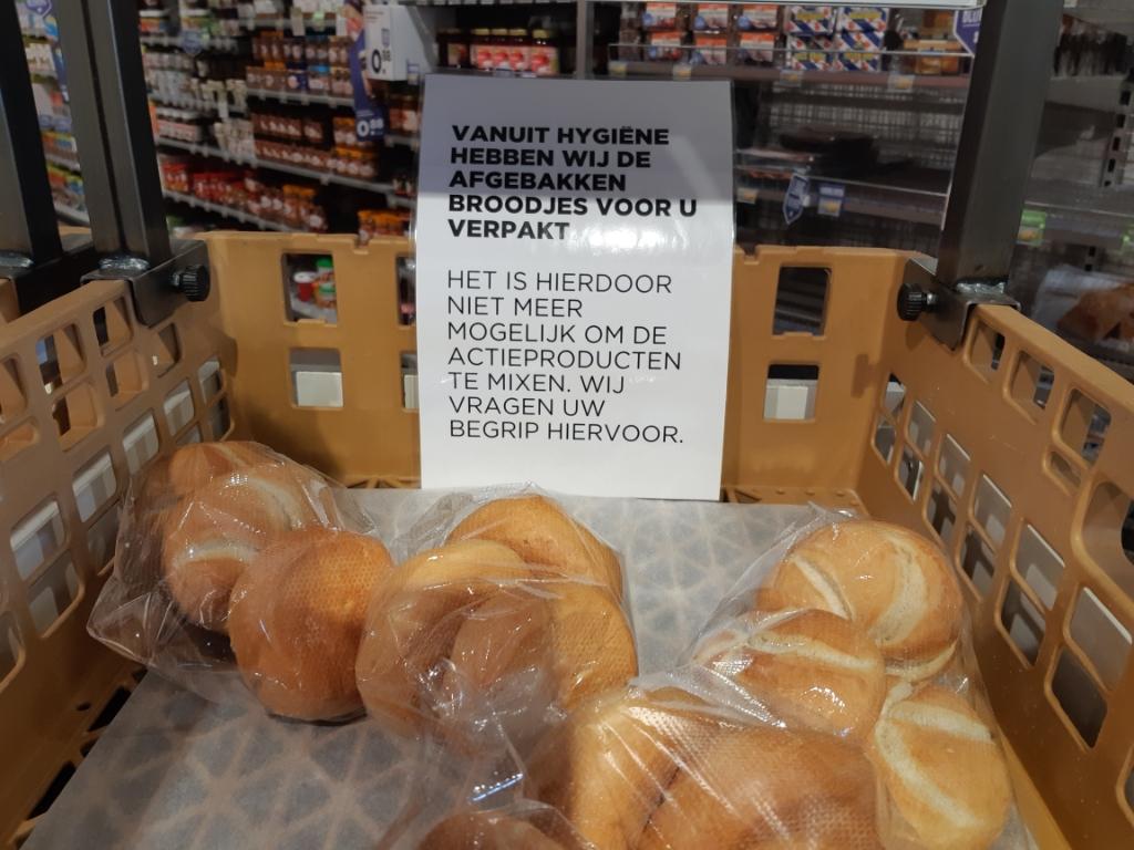 Alleen nog verpakte broodjes  © Brummens Nieuws