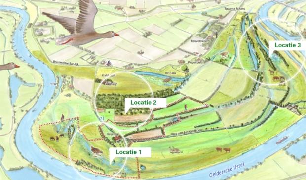 Plankaart Cortenoever. Foto Provincie Gelderland