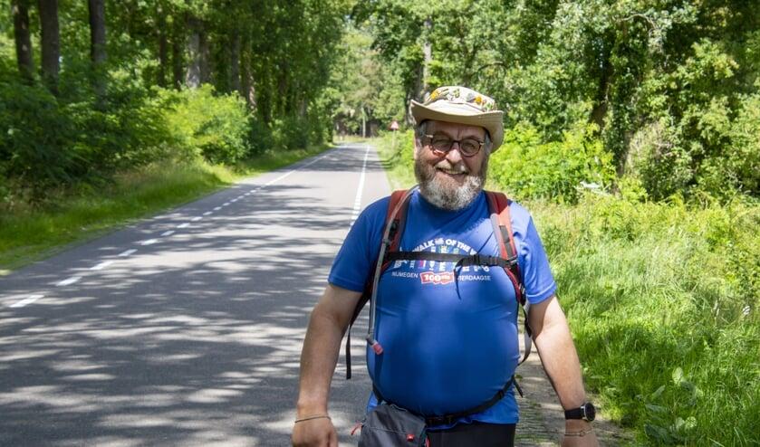Anton Bos op dag 1 in de buurt van Huize Voorstonden. Foto: Marion Verhaaf