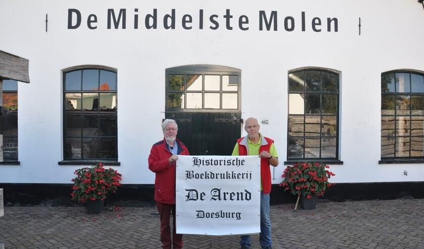 Links Arie Niks van De Arend en rechts Gert van Harten van De Middelste Molen.