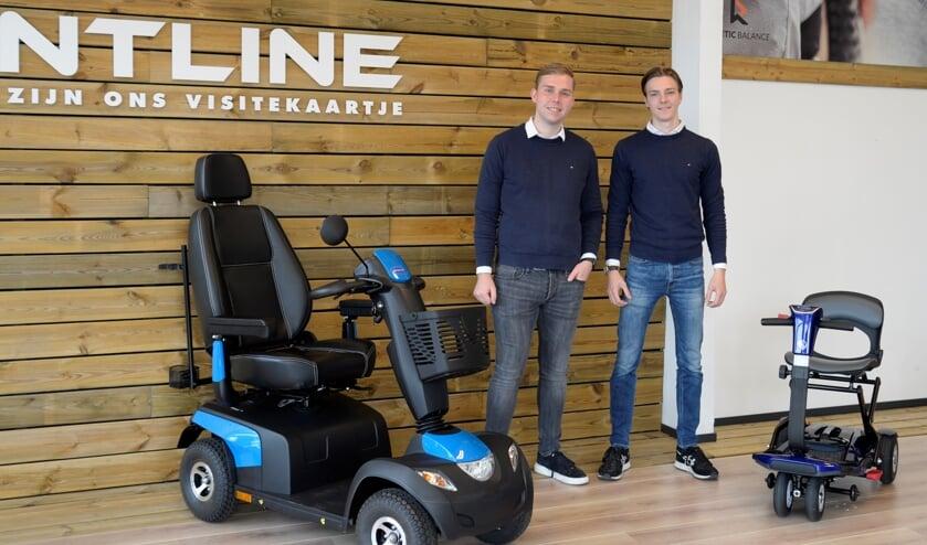<p>Zakenpartners Jesse Wilbrink en Niek Klein Kranenbarg. Foto: Marian Oosterink</p>