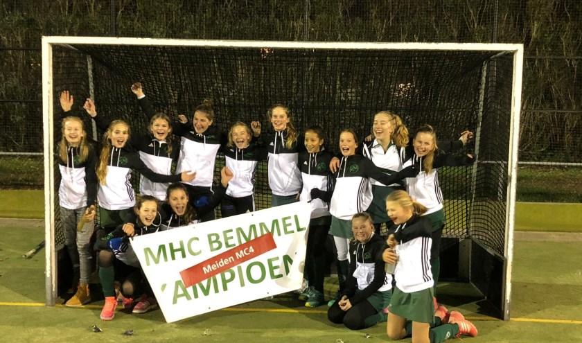 MHC Bemmel MC4 is kampioen. (foto: Egbert Philips)