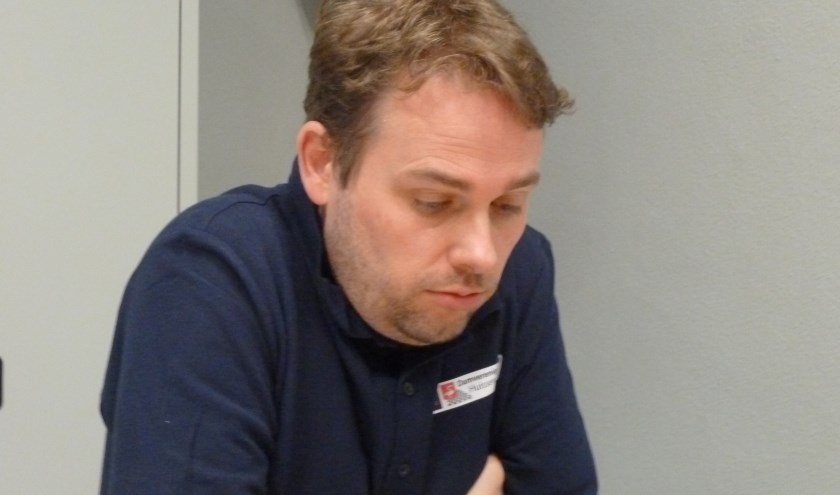 Joost Hendriksen in zijn winstpartij.