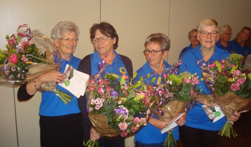 Annie Vermeulen, Wil dekkers,Thea Derks, José Burgers. (foto: Geert Burgers)