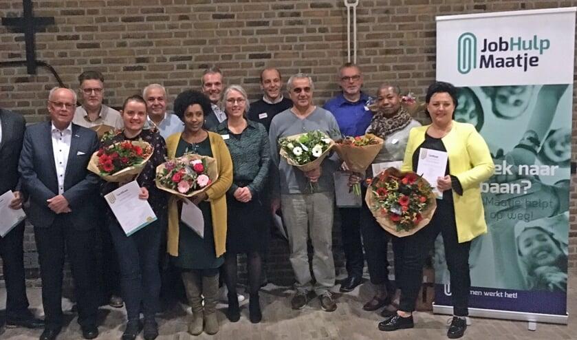 Deelnemers aan de JobGrouptraining en de trainers. (foto: Tjark Struif Bontkes)