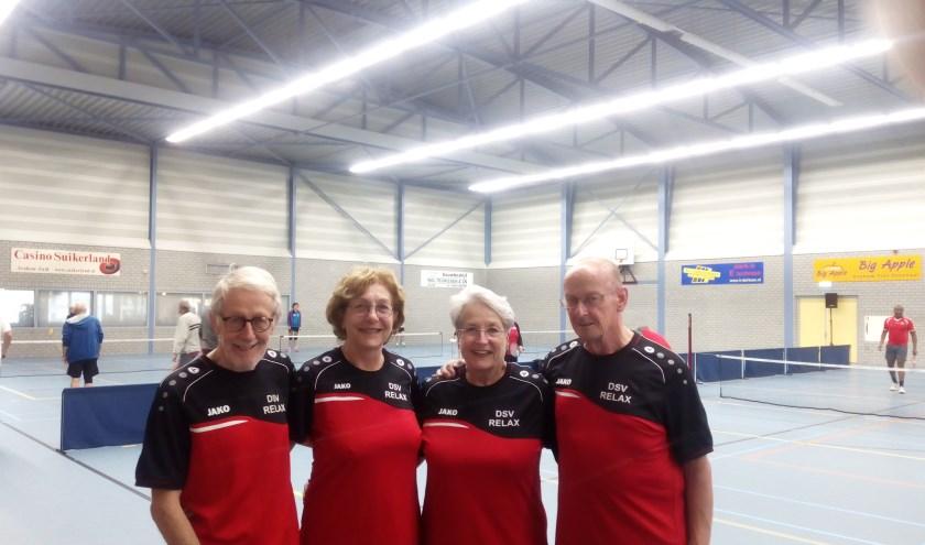 Van links naar rechts: Ton Elshof, Mia Schouten, Ank Kaan en Mischa Rosanow. (foto: Huisfotograaf)