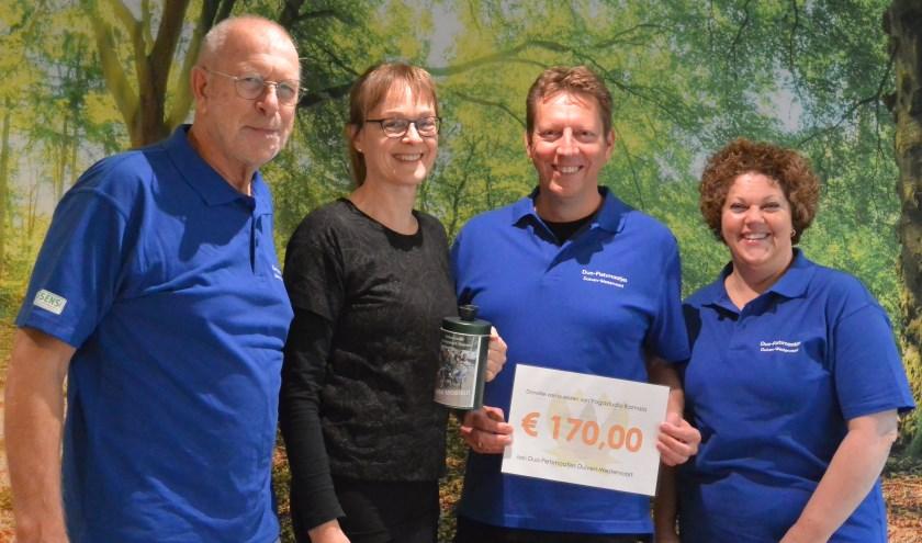 Ton Kersten, Lidy Reintjes, Gerard Rutgers en Manon Broers. (foto: eigen foto)