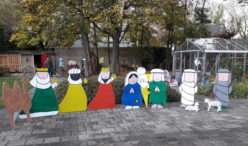 Zelfgemaakte kerstgroep. (foto: Ellie van den Brink)