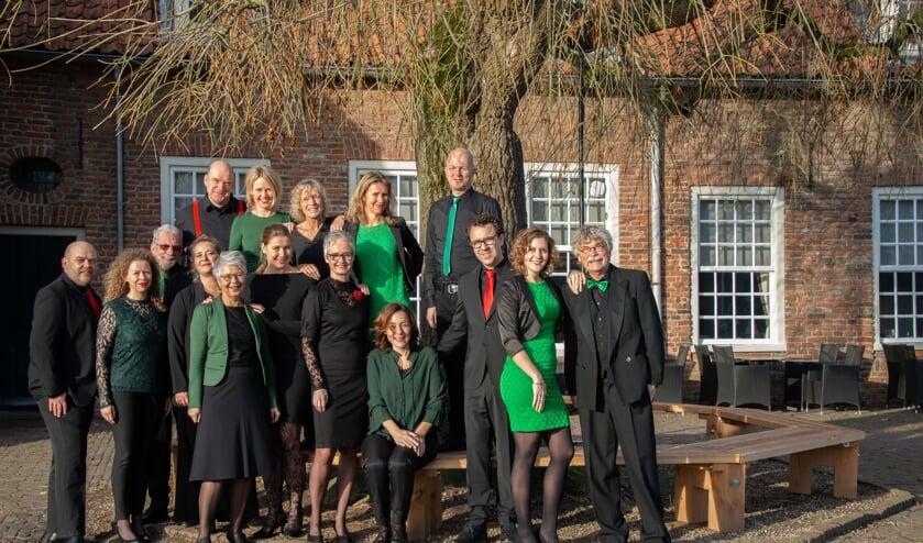 Het koor Vocal Virus onder leiding van Elke Jansen. (foto: Paul Kerckhoffs)