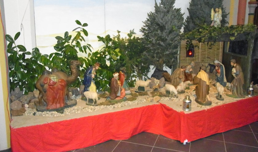 Kerststal Dominicanenklooster. (foto: J.F.M.C.Geertsen)