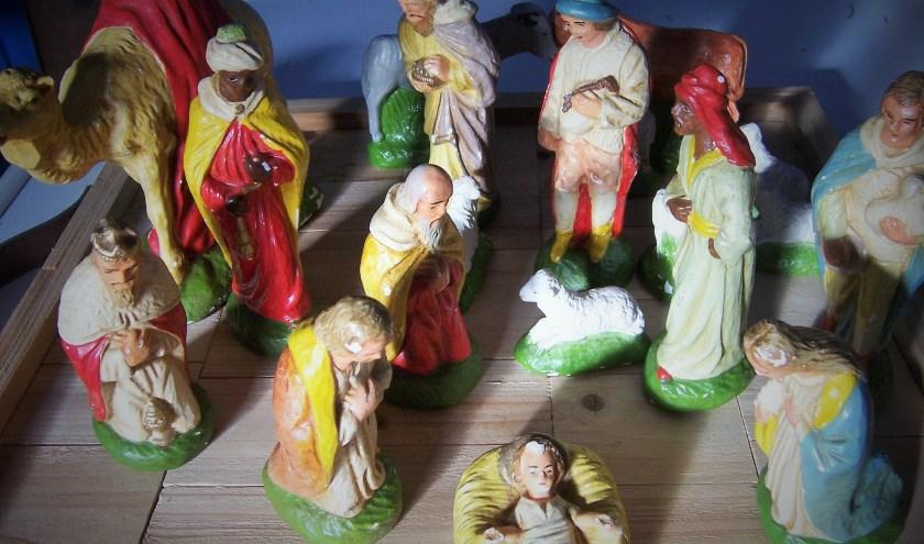 Kerstgroep jaren '50. (foto: Ria Visser)