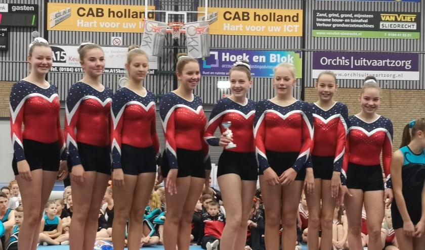 Nienke Peeters, Fenna Uwland, Lynn Willemsen, Lynn Haggenburg, Anna Medendorp, Isabel Kroon, Femke Schouten en Lieke Meulenberg. (foto: C. Haggenburg)
