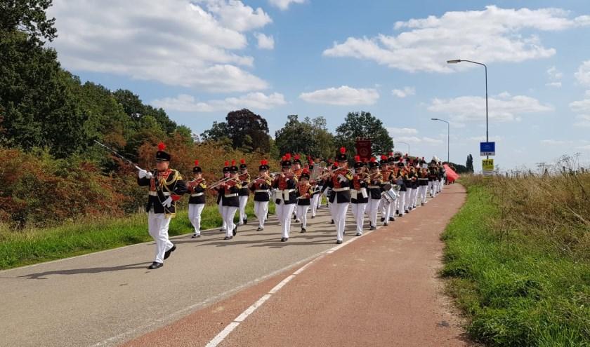 Drumfanfare Sint-Jan tijdens schuttersfeest 2018. (foto: Linda Hendriks)