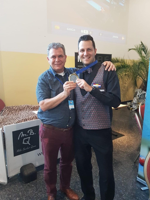Europees Kampioen Dave Christiani samen met Bondstrainer Lion de Leeuw