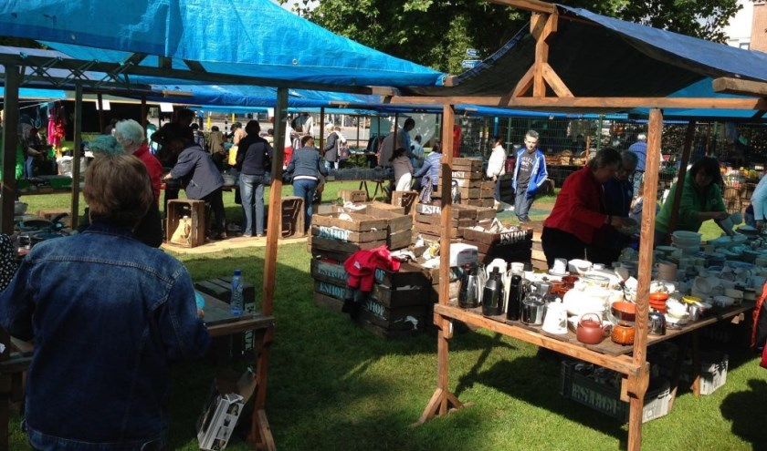 Eshofmarkt. (foto: buurtvereniging De Eshof)