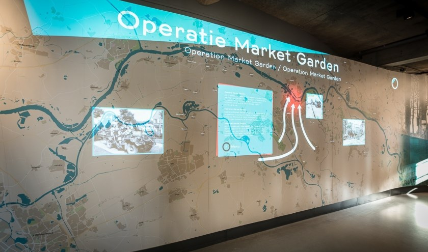 De interactieve belevingswand in het Infocentrum WO2 Nijmegen. (foto: Archief Infocentrum WO2 Nijmegen)