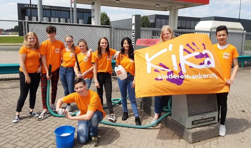 De oranje team van klas 2ba Het Westeraam is er klaar voor.
