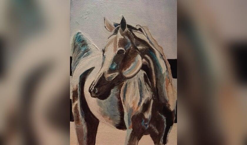 Een paard. (foto: Wilma Schouten)