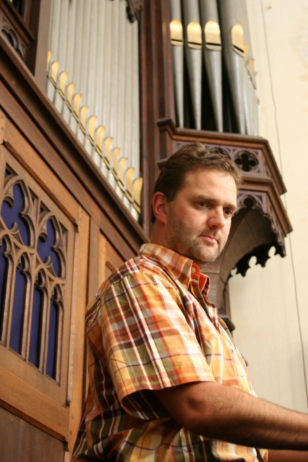 Marcus Bergink, organist. (foto: Arjen Faber )