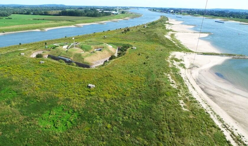 Fort Pannerden in vliegerperspectief. (foto: Dirk Oomen)