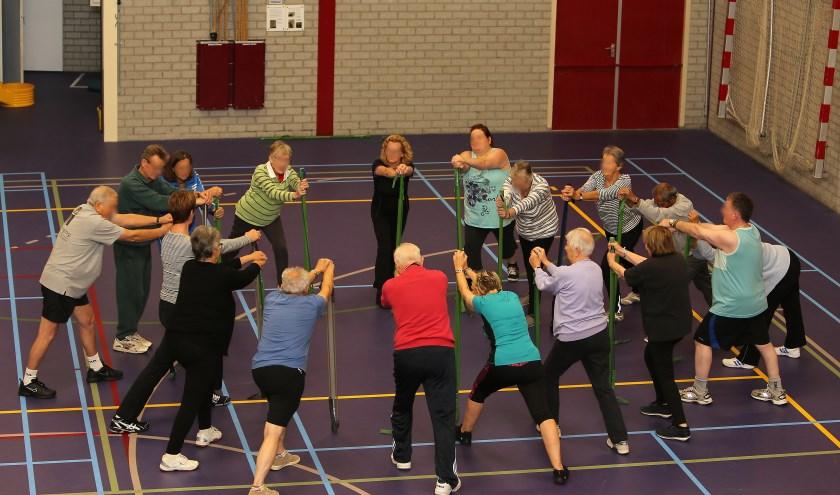 Lessen bewegen voor ouderen. (eigen foto)