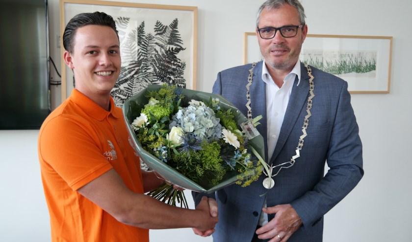 Job Budding en burgemeester Kottelenberg