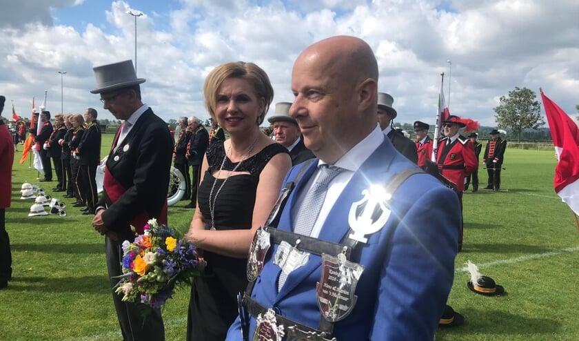 Doornenburgse schutterskoning Bert van Deelen is één van de kandidaten voor het Lingewaard koningschap. (foto: Martijn Claassen)