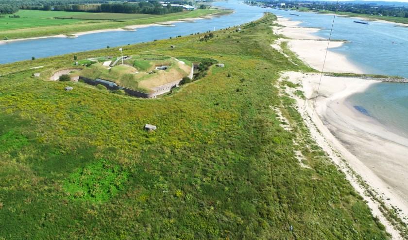 Fort Pannerden in vliegerperspectief (foto: Dirk Oomen)