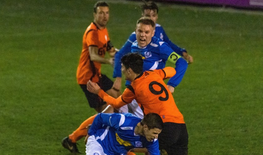 Ook dit seizoen weer de derby tussen De Bataven en RKHVV, zij het een treetje lager in de eerste klasse. Al op zaterdag 21 september is de eerste 'burenruzie'.(foto: rkhvv.nl)