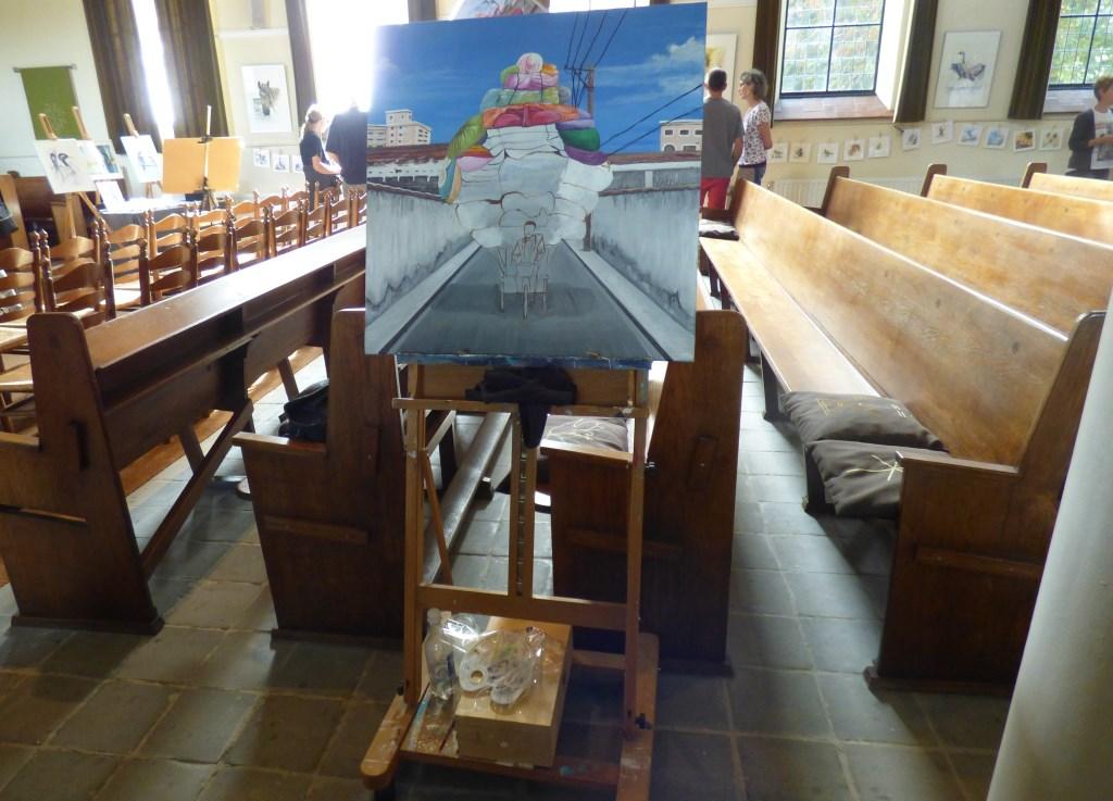 Expositie in het kerkje in Angeren. (foto: Alie Engelsman) Foto: Alie Engelsman © Hét Gemeentenieuws