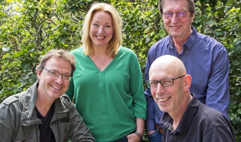 Paul Mulder, Margit Gasseling, Vincent Gal, Theo Scholten. (foto: Vincent Gal)