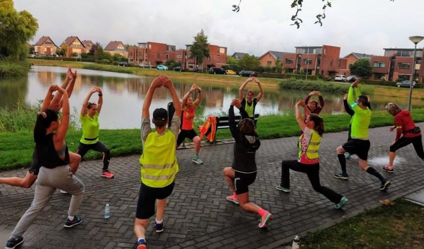 Hardloopgroep traint voor HeteRun. (foto: Johan Uittenhout)