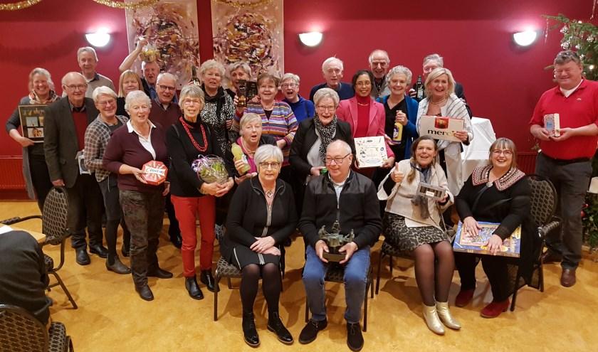 Dertig winnaars van de Oudejaarsdrive bc Angerlo.