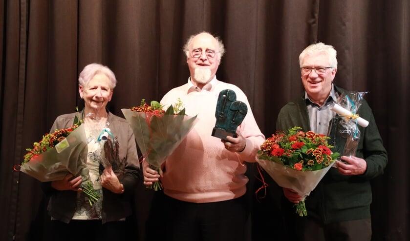 Van links naar rechts: Miep Jansen / Steef Spaan / Theo van Es. (foto: Patricia Bosch)