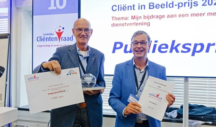 <p>Tjark Struif Bontkes en Kees Jochemsen. (foto: Jeroen Poortvliet)</p>