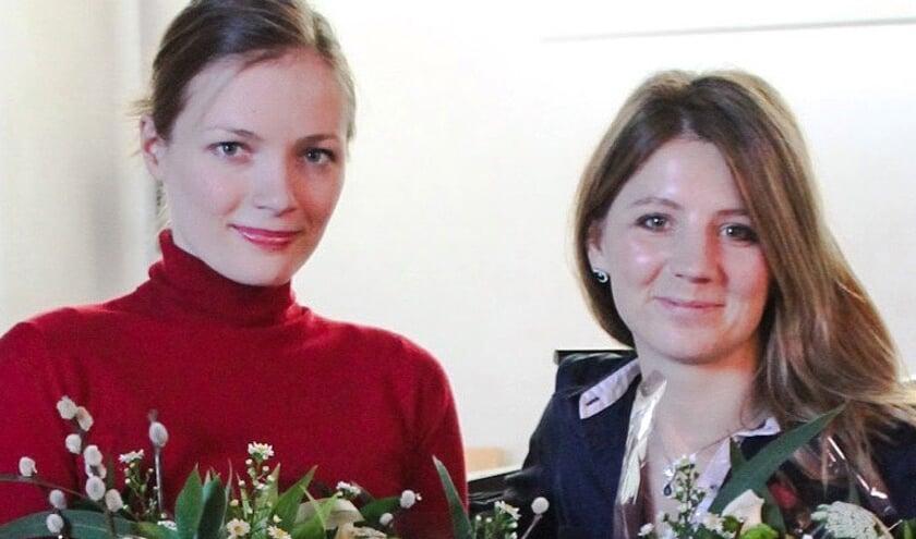 <p>Hanneke Rouw en Sofia Vasheruk. (foto: Chichester Cathedral.UK.)</p>