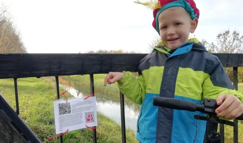 <p>Op het startpunt bij Klein Rome kun je de QR code scannen en gelijk starten. (foto: Sandra Brookman-Bak)</p>