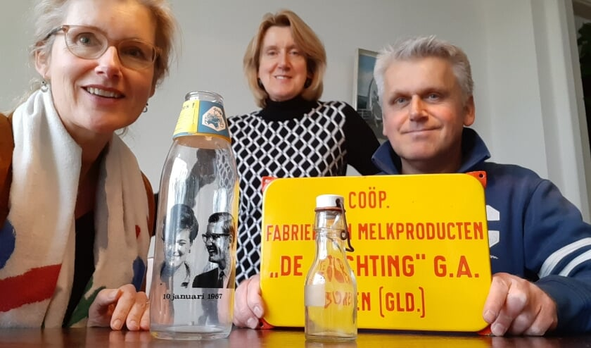 <p>Van links naar rechts: Trix, Karin en Thijs van Veen. (foto: Trix van Veen)</p>