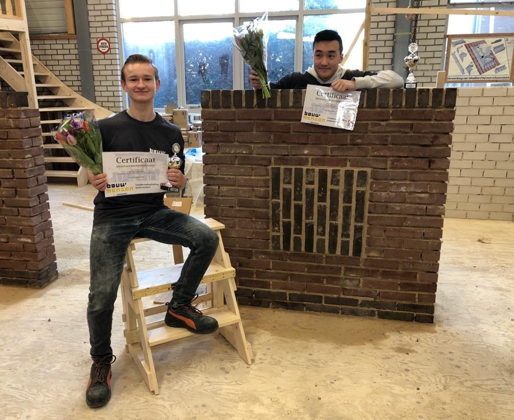 Van links naar rechts: Ruben Jansen en Jack Zheng in de prijzen bij de Talentdagen. (foto: HPC Zetten) Foto: HPC Zetten © Hét Gemeentenieuws