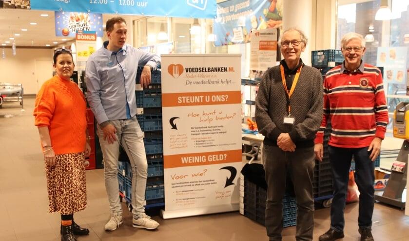 Joke Klein (coordinator) Ruben, Marius en Rein. (foto: Bert Kämink)