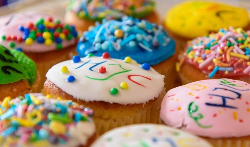 De rijk versierde cupcakes. (foto: Patrick van Wolferen)