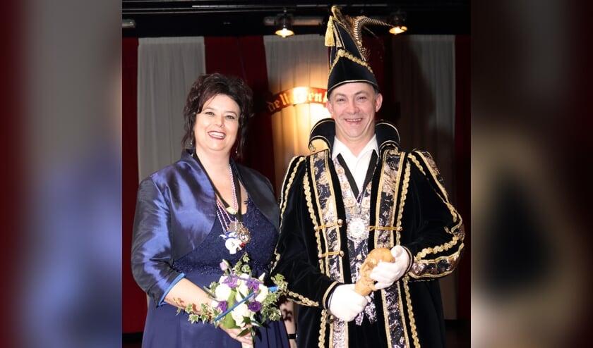 Prins Michel de Onderwijzer en prinses Danielle. (foto: Henk Sluiter)