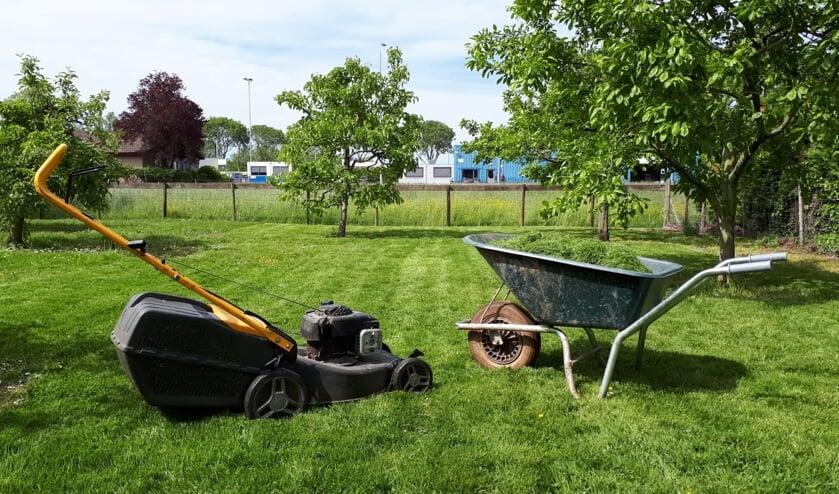 Cliënten van Hoog-Broek doen vanaf dit voorjaar eenvoudige klussen in de tuin of boomgaard. (foto: Zorgboerderij Hoog-Broek)